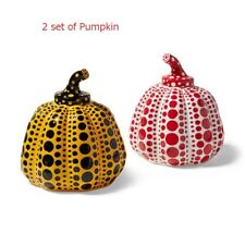 2 Set  Yayoi Kusama  Pumpkin Object Red and Yellow from Japan Yayoi Kusama