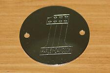 Harley Davidson #1 Timer Points Plate Cover Chrome Shovelhead & Evo New (31)
