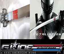 G.I.Joe Single Sword Snake Eyes Black w/ Scabbard & Single Sword Stand