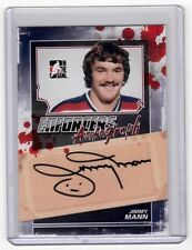 JIMMY MANN 11/12 ITG Enforcers Auto Autograph A-JMA Signed Signature Hockey Card