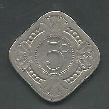 NETHERLANDS, 1932,  5 CENTS, COPPER NICKEL,  KM#153,  VERY FINE-EXTRA FINE