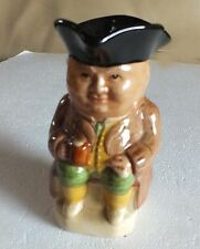 Woods and sons Toby Jug 4 1/2 inches tall pottery china