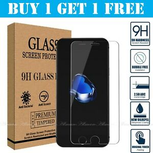 100% Genuine Tempered Glass Film Screen Protector For Apple iPhone 8 & 7 - NEW