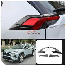 Carbon Fiber Texture Rear Tail Light Lamp Covers Trim For Toyota RAV4 2019 2020