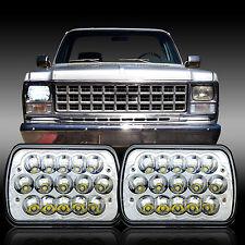 "2x 7""X6"" LED Headlight HID Cree Light Bulbs Crystal Clear Sealed Beam Headlamp"