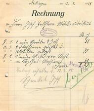 alte Rechnung, Dettingen (Horb) Josef Schenkel Schmied 1928 #E752
