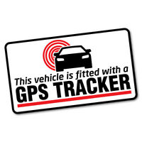 GPS Tracker Fitted Warning Sticker Decal Safety Sign Car Vinyl #6601EN