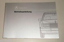 Betriebsanleitung Mercedes Benz W124 200 250 300 D Diesel + 4Matic von 1992