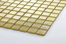 Klein Muster von Gold Glitzer Glasmosaikfliesen glänzend Glass Mosaic (MT0080)