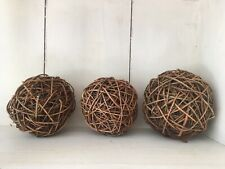 Willow Balls Spheres Woven Home Decoration Flower Craft