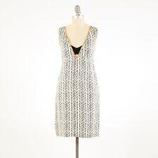 Vena Cava Dress 9 Silk Black & White Braided Print Sleeveless Mini Shift