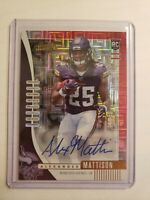 2019 Absolute Football Alexander Mattison Rookie RC Red Auto 23/50 Vikings