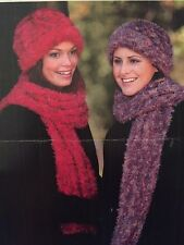 Cg11 Knitting Pattern - Lady's Cosy Soft, Hat & Scarf - Women's