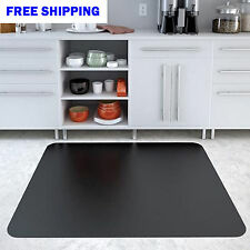 "36"" x 48"" RECTANGLE FLOOR CHAIR MAT Hard Home Office Non-Studded Solid Mat Black"