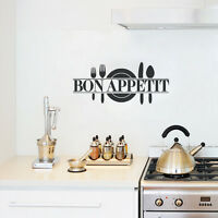 Bon Appetit Kitchen Lettering Words Decal Wall Quote Sticker Home Vinyl Decor
