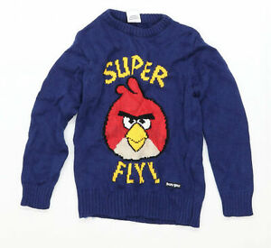 Next Boys Graphic Blue Angry Birds Jumper Age 7 Years
