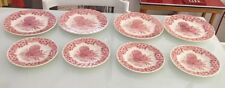 Myott Factory Thanksgiving Turkey Queen's Red/Pink 4-Dinner4- Salad Plates