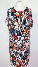 Samoon by Gerry Weber Kleid Gr. 48 Crêpe Kaschier-Effekt Damenkleid Etuikleid