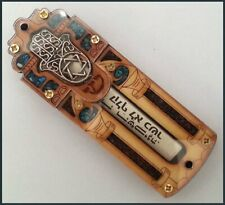 Star of David & Hamesh Hamsa Hand Mezuzah With Shema Israel Scroll