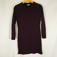 SMARTWOOL Dress M Purple Merino Wool Size Medium