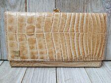 Lacoste Womens Wallet Light Brown Beige Ivory Cream Checkbook Holder - B25