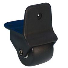 Kantenaufbaurolle 50mm in Nylongehäuse schwarz, Kantenrolle Anbaurolle Bockrolle
