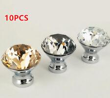 10pcs Fashion Crystal Smooth Ball Glass Drawer Door Cabinet Knob Pull Handle
