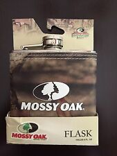 MOSSY OAK INFINITY CAMO Fabric Wrapped STAINLESS STEEL HIP FLASK Hunting-NEW