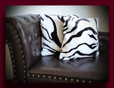 Kissen Kissenhülle Dekokissen im Tierfell - Design Modell Zebra