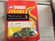 Corgi Juniors Carded  VW Beetle 1300.
