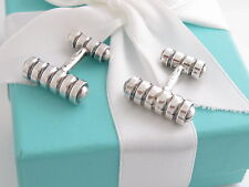 Tiffany & Co Silver Groove Picasso Cufflinks