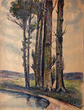 Bei Grimma Sachsen Mischtec.1932 Paul Groß (1873-1942 Dresden) Neue Sachlichkeit