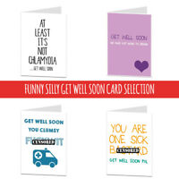 Get Well Soon Card Rude Cheeky Funny Humour Joke After Operation Accident