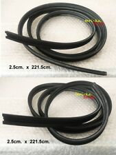 Pair Weatherstrip Glass Run Channel Rubber Seal For Universal use / General use