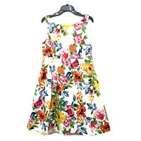 Eliza J Floral Fit And Flare Sleeveless Dress Sz 12 Garden Cocktail Party