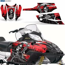 FireCat Arctic Cat Graphic Kit  F5,F6,F7 Sled Sabercat Snowmobile Wrap REAP RED