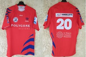 Maillot rugby ASBH BEZIERS porté n°20 LNF vintage Proact home shirt L