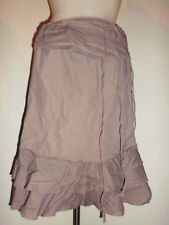 LEGERE JUPE C&A TAUPE MODEL TYPE TZIGANE TAILLE REGLABLE T:36/38 100% COTON