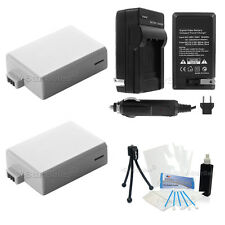 LPE5 Battery x2 + Charger for Canon EOS 1000D 450D 500D