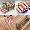 New Women Frosted PU Leather Wallet Zip Around Case Purse Lady Long Handbag Bag