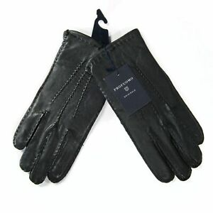 PROFUOMO MENS BLACK LEATHER GLOVES SIZE XL 9.5