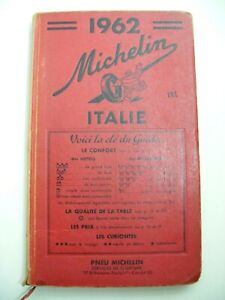 Vintage 1962 Michelin Italie (in French)