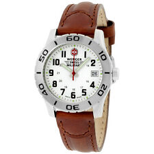 Wenger White Dial Leather Strap Ladies Watch 0721201