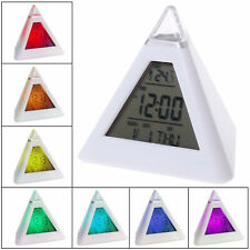 LED despertador digital alarma despertador mesa reloj calendario iluminado schlummerfunktion