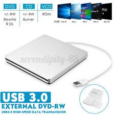 USB 3.0 Externes DVD Laufwerk Brenner Slim CD DVD-RW Brenner für PC Laptop A