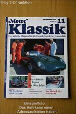 Motor Klassik 11/89 Jaguar Alfa Romeo Lancia Ford