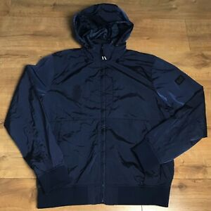 Weekend Offender Mens Football Casuals Navy Blue Fitted Jacket Coat Size Large