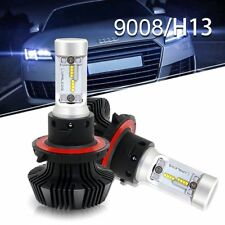 2x H13 9008 LED Headlight bulb Conversion Kit 6500K 72W Chrysler Aspen 2009-2007