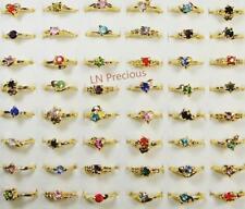 120pcs Rhinestone Gold-plated Rings Wholesale Lots Jewelry Women Free Shipping