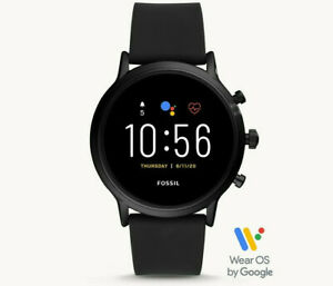 FOSSIL GEN 5 44MM CARLYLE HR Black Smartwatch FTW4025 GOOGLE WEAROS ANDROID